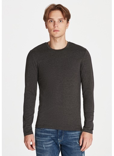 Mavi Basic Sweatshirt Gri